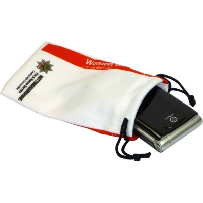 Image of Promotional Phone Pouch. Printed Microfibre Protective Mobil Sleeve.