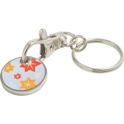 Image of Full Colour Printed Trolley Coin Keyring. 12 Sided £1 Now Available
