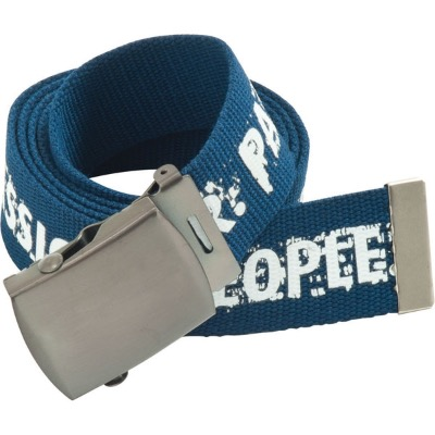 Image of Polyester Canvas Belt with Metal Buckle And Free Engraving With Logo/4 Colour On 1 Side