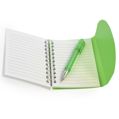 Image of Promotional A7 Wirebound Notebook. Express Service Available