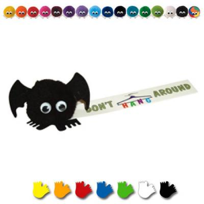 Image of Promotional Halloween Logobug. Branded Bat Logobug. Cheap Printed Promotional Halloween Item.