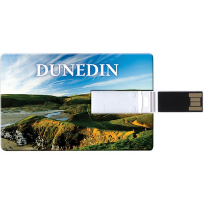 Image of Full Colour Printed Credit Card USB Flash Drive 4GB. Slim USB