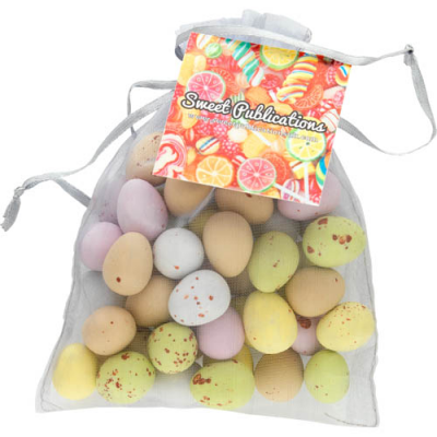 Image of Promotional  Large Easter Organza Bag with Chocolate Mini Eggs - EXPRESS