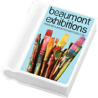 Image of Promotional Book Shaped Eraser Printable on Both Sides 4 Spot Colours