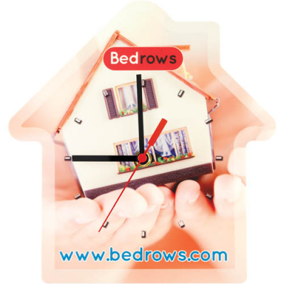 Image of Full Colour Printed Wall Clock Available In Round Rectangular and House Shaped