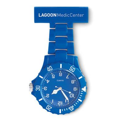 Image of Branded Nurse Watch. Promotional Blue Analogue Nurses Watch