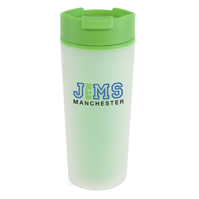 Image of Printed Double Walled Frosted Travel Tumbler. Quick Turnaround Time.