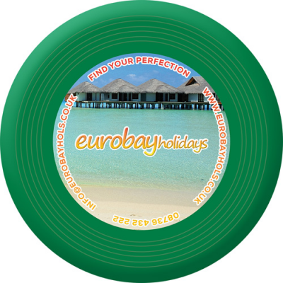 Image of Branded Recycled Frisbee. Full Colour Printed Frisbee. UK Manufactured