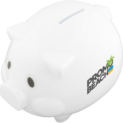 Image of Promotional Piggy Bank In White Or Pink