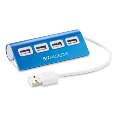 Image of Branded 4 Port Aluminium USB Hub. Express Service Available.