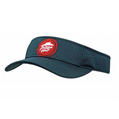 Image of Sports mesh visor fabric covered short touch strap