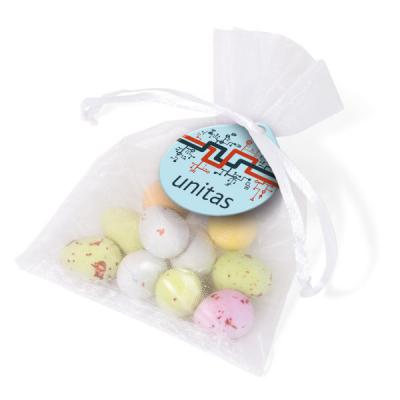 Image of Promotional Bag Filled With Chocolate Easter Speckled Eggs