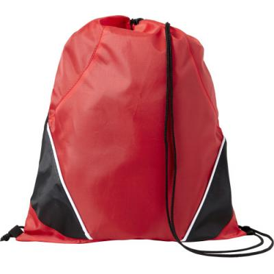 Image of Printed Drawstring backpack made from 201D polyester