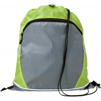 Image of Printed Drawstring Sports Bag With Large front Pocket