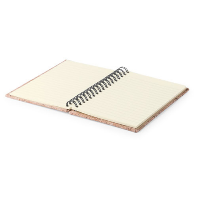Image of Promotional Natural Cork A6 Notebook Wiro Bound