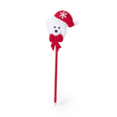 Image of Promotional Christmas Pen With Santa, Reindeer Or Polar Bear Topper