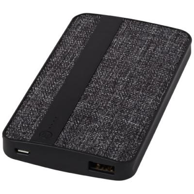 Image of Printed Fabric 4000 mAh Power Bank, branded power bank