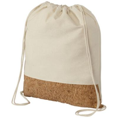 Image of Promotional Cotton and Cork Drawstring Bag