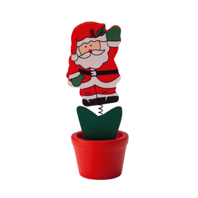 Image of Promotional Christmas Santa Wooden Memo Clip