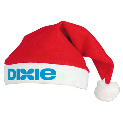 Image of Printed Christmas Santa Hat, Low Cost Father Christmas Felt Hat