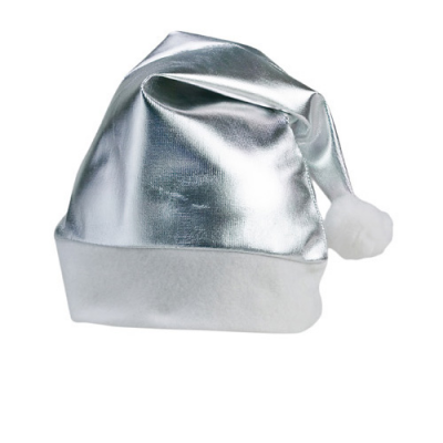 Image of Promotional Christmas Shinny Santa hat, Available In Metallic Gold Or Silver