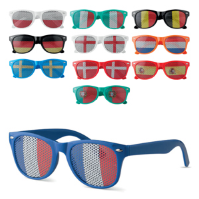 Image of Promotional Country Flag Glasses