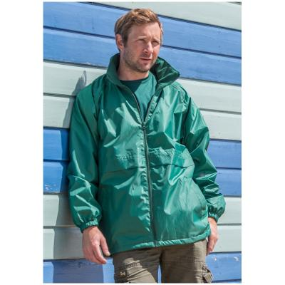 Image of Printed Windcheater- Men's And Women's Windcheater Lightweight Water Repellent (Result Core) Colours: black, navy, purple, red, bottle green, royal blue, emerald green, hot pink