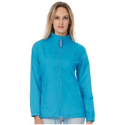 Image of Branded Ladies Lightweight Jacket Sirocco - Ladies Lightweight Waterproof Jacket With Concealed Hood B&C Comes In 15 Colours