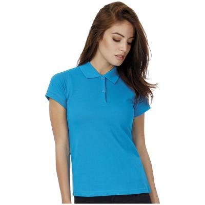 Image of Printed Ladies Polo Shirt-Ladies Polo Shirt B&C Safran Pure Polo Shirt A Range Of Bright Colours Available