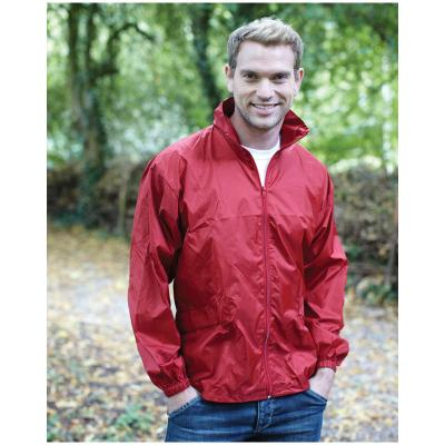 Image of Printed Promotional Lightweight Windcheater in a Bag- Windcheater In A Bag Colours: black, bottle green, navy, red, royal blue