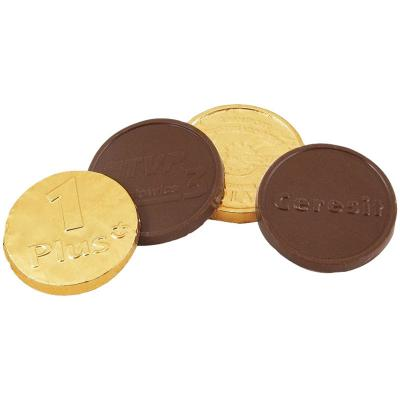 Image of Promotional Chocolate Coins :: Christmas chocolate coins moulded with your brand design