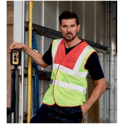 Image of Branded Hi -Vis Work Waistcoat/Hi-Vis 100% Polyester Work Waistcoat With Velcro Fastenings Colour Yellow And Orange Or 22 Other Colours At An Extra Cost. Ladies And Childrens Also Available