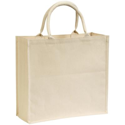 Image of Branded Broomfield Laminated Cotton Canvas Tote. Express Service Available