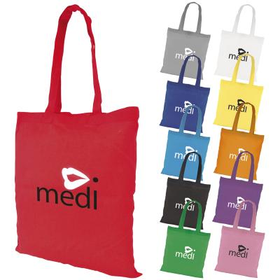 Image of Promotional Budget Coloured Cotton Shopper. Durable Cotton Bag