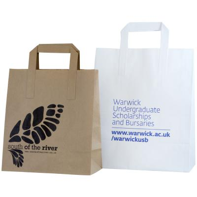 Image of Promotional Bags; SOS Flat Tape Carrier Bags printed with your brand, logo or design