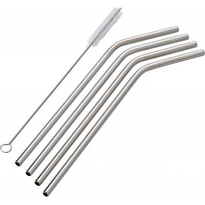 Promotional Reusable Stainless Steel Straw, With Eco Cotton