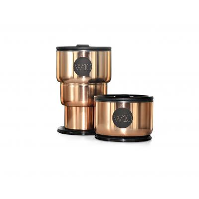 Image of Promotional W10 Stainless Steel Collapsible Cup Portobello Rose Gold