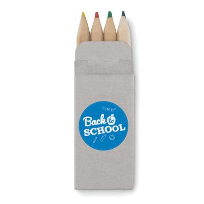 Image of Promotional Wooden Mini Colouring Pencils In Eco Card Box