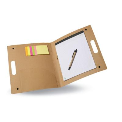 Image of Promotional Eco Card Conference Folder With Notepad, Sticky Notes And Pen