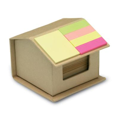 Image of Promotional Eco Recycled House Shaped Memo Pad With Sticky Notes