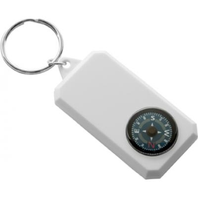 Image of Promotional Keyring with Compass; printed with your logo brand or design