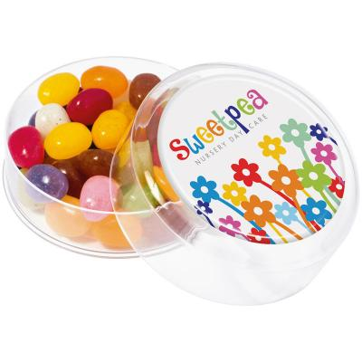 Image of Jelly Bean Factory Maxi Round Pot - Large pot of jelly beans with full colour branding
