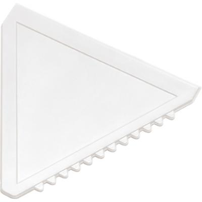 Image of Branded Ice Scraper. Triangular Ice Scraper White.