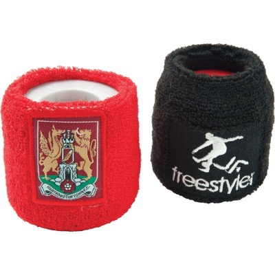 Image of Promotional Towelling Sweat Bands/ Embroidered Or Applique Badge
