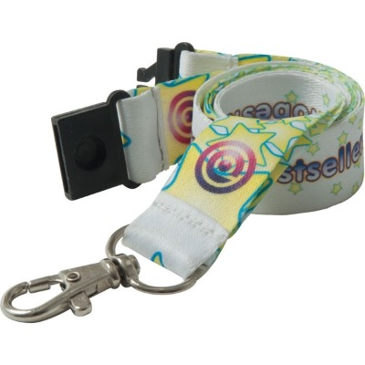 Image of Promotional ultra smooth Lanyards - 20mm Dye Sublimated Polyester Lanyard