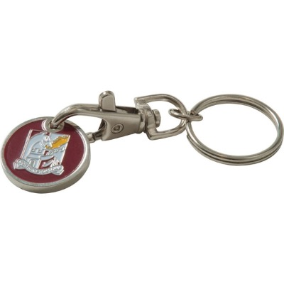 Image of Promotional Trolley Coin Keyring . New 12 Sided trolley Coin Available