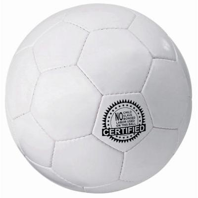 Image of Printed Size 5 Football. PVC Solid White Football