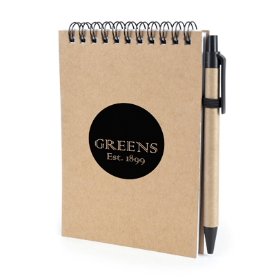 Image of Promotional ECO Hemiola Recycled Wiro Bound Notebook with Recycled Pen