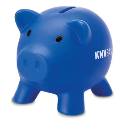 Image of Promotional Softco Piggy Bank -  cute soft feel piggy bank in PVC