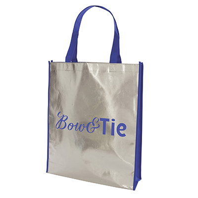 Image of Promotional Metallic Shopper With Long Handles Express Printed